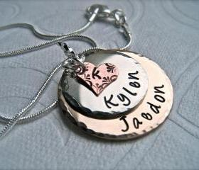 Custom FAMILY Tree Personalized Pendant Necklace